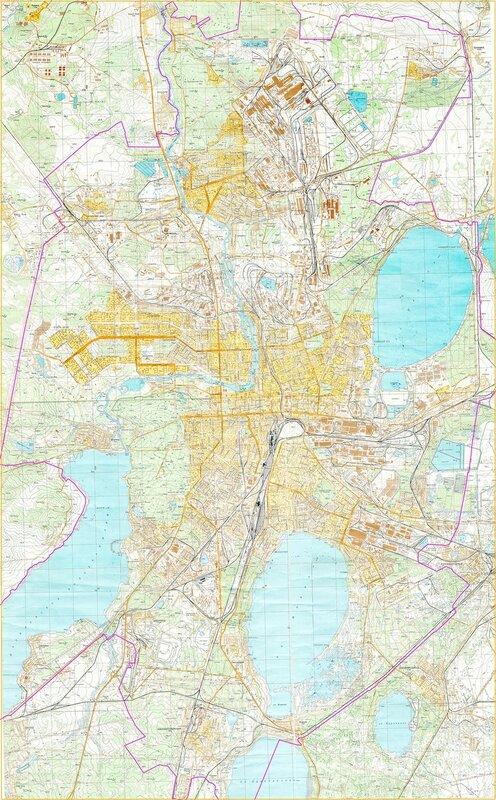 карта Челябинска в