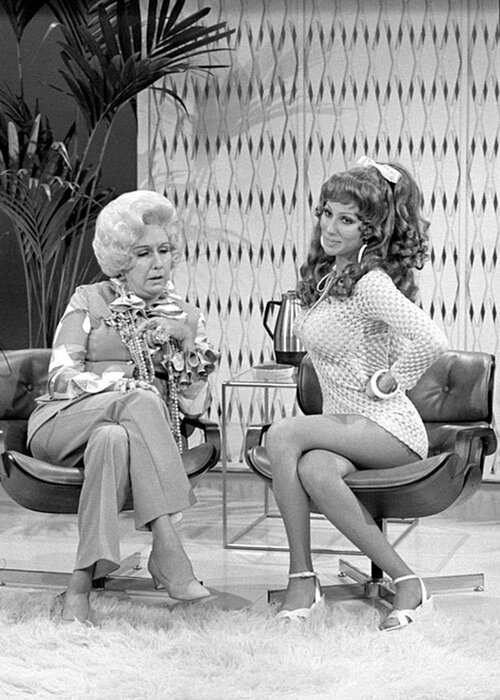 Jean Stapleton and Cher on The Sonny & Cher Comedy Hour, February 1972