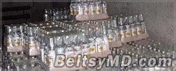 Полиция Бельц обнаружила сотни литров поддельной водки