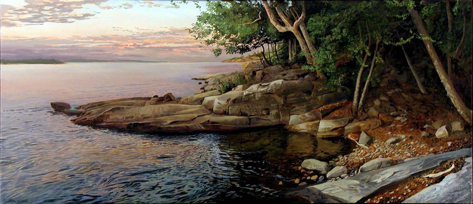 Тихий Вечер на заливе Джорджиан-Бей