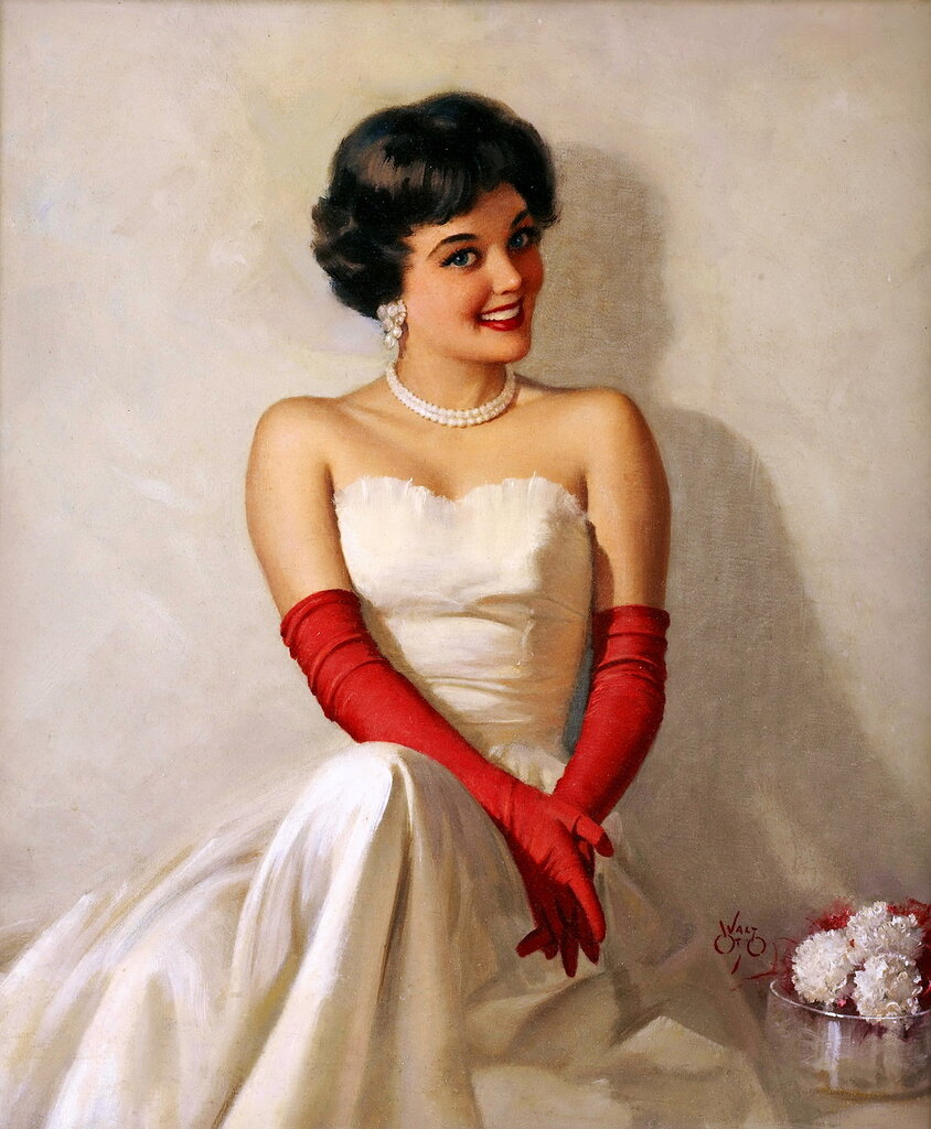 Walt Otto (1895-1963) - The lady is waiting