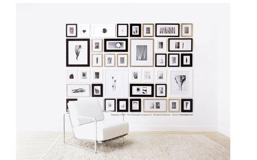 Коллажи на стенах из фотографий