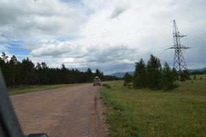 Дорога на Бояровку на выезде из Балгазына