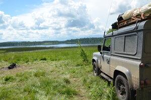 Днёвка на озере Азас