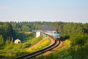 2М62У-0120, поезд № 76 Брест - Гомель - Москва, мост через р. Угра