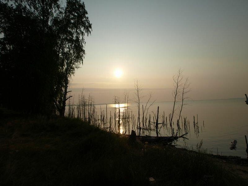 Рассвет на озере Треустан (30.07.2013)