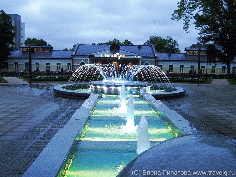 Друскининкай. Вильнюсская аллея и фонтан
