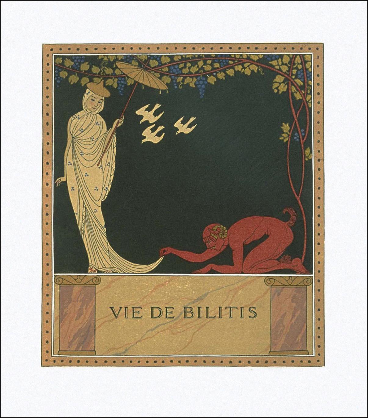 Bilitis, illustrazione di George Barbier