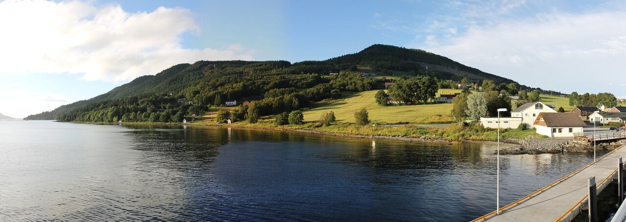 Western Norway, Halsaford, ferry, panorama