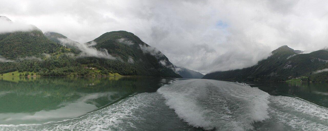 на катере по Фьёрландфьорден, panorama