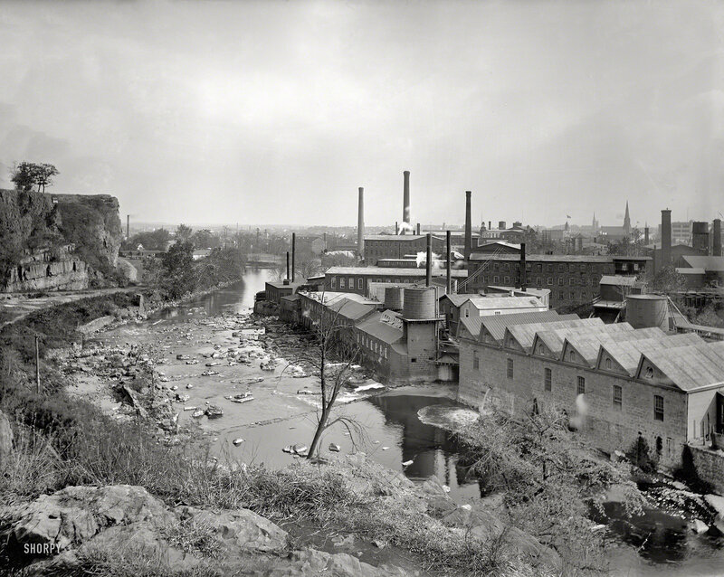 Circa 1901. Paterson, N.J., from Water Works Park