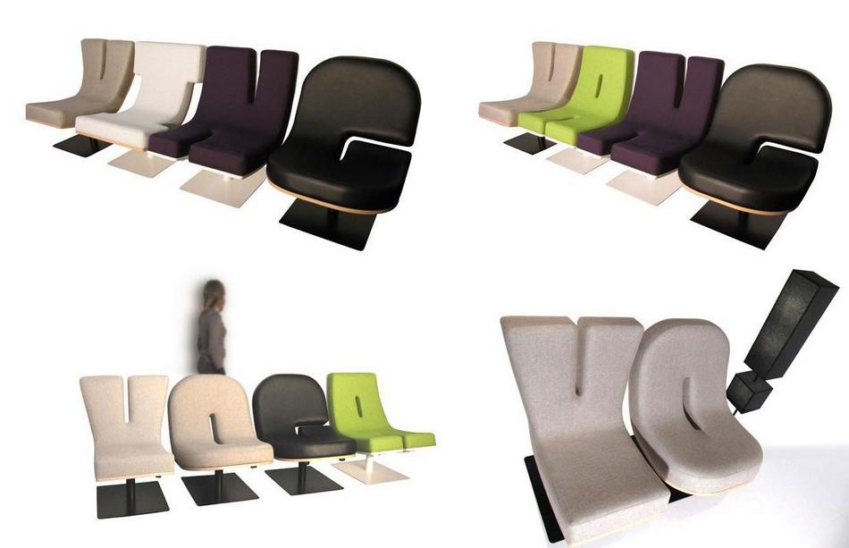Коллекция мебели в виде букв и цифр от студии TABISSO