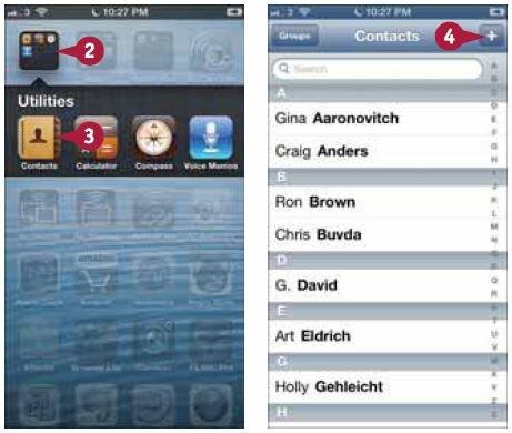 На экране появится информация о контакте. Откроется экран «Контакт» (New Contact)