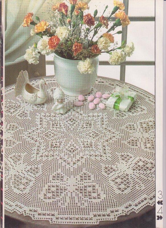 钩针桌布图解 - 编织幸福 - 编织幸福的博客