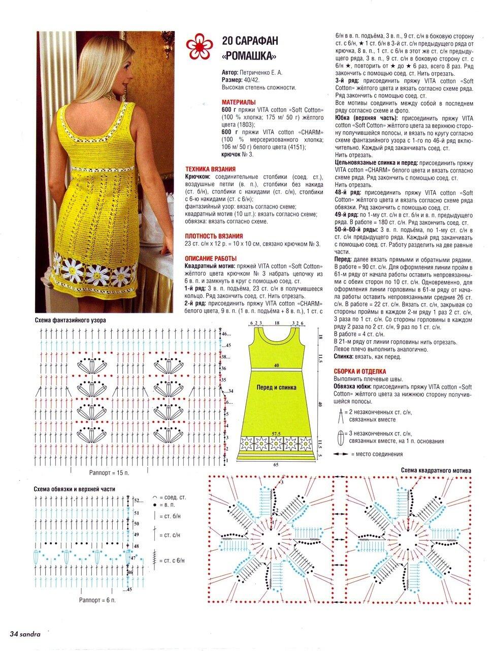 Фото и схема платья крючком для женщин схемы и описание