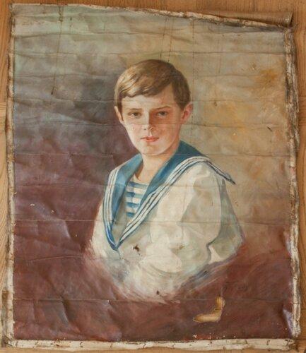 Алексей Николаевич, портрет, найденный в Царском селе.