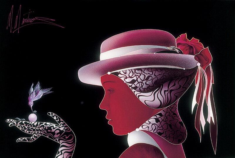 Женские души со струнами схожи.  Художник Martiros Manoukian