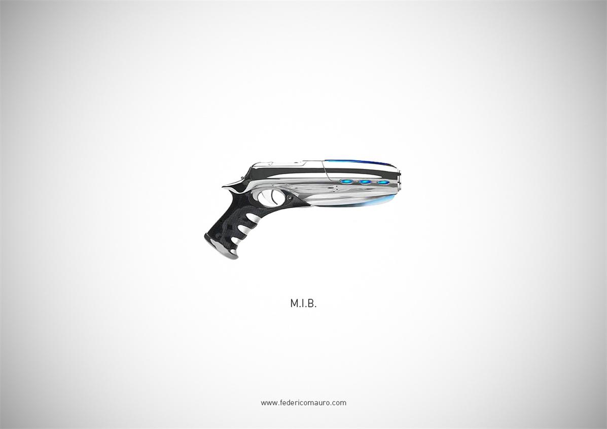 Знаменитые пушки - оружие культовых персонажей / Famous Guns by Federico Mauro - M.I.B. (Men in Black)