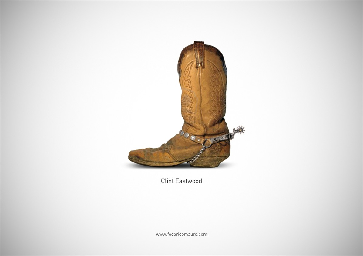 Знаменитая обувь культовых персонажей / Famous Shoes by Federico Mauro - Clint Eastwood