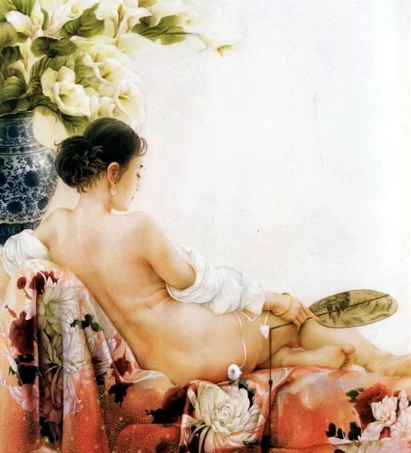Живопись китайской художницы Ji Shuwen
