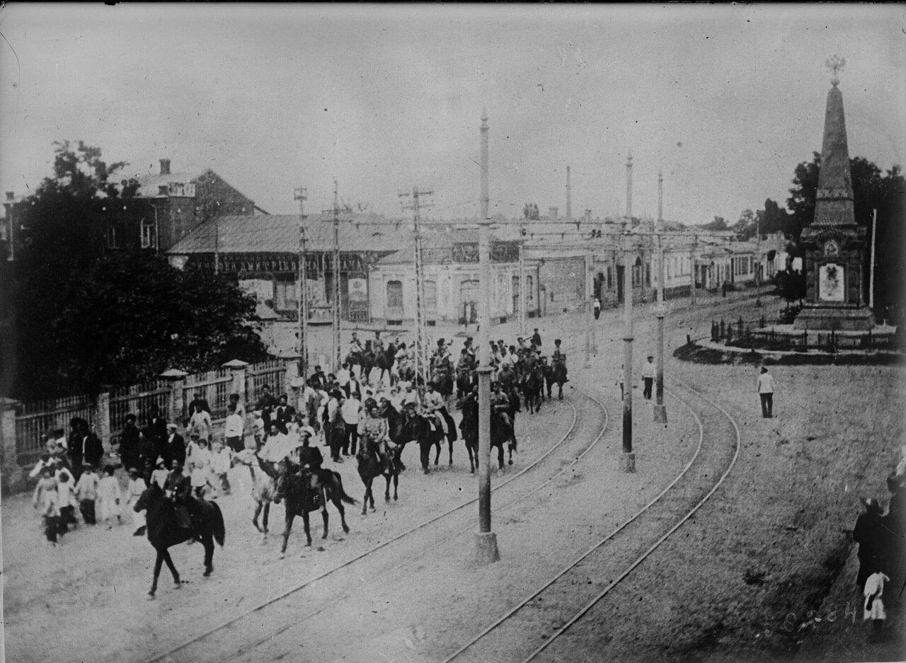 1919. Вход войск генерала Деникина в Екатеринодар.