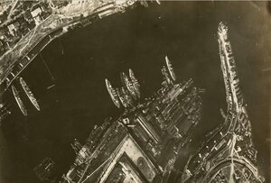 Вид с воздуха на гавань Севастополя