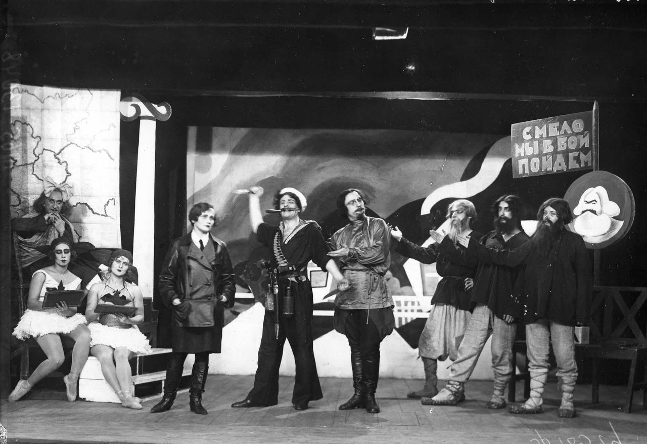 Театр Кривое зеркало. 1928 г. Ленинград