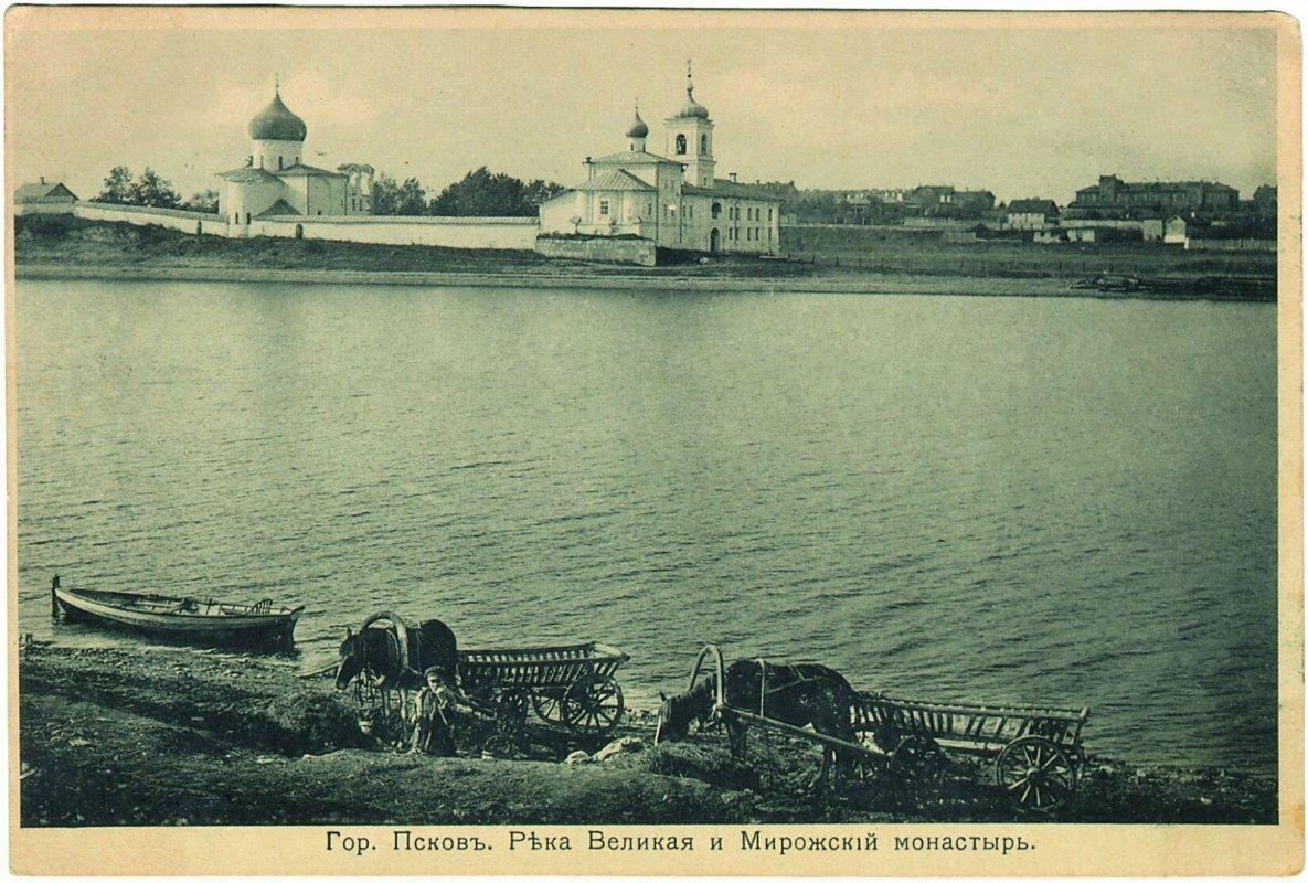 Река Великая и Мирожский монастырь