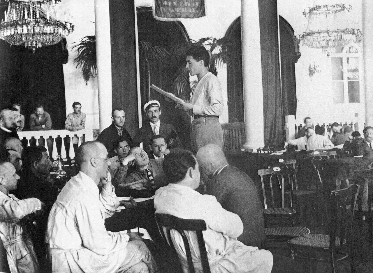 Заседание III конгресса Профинтерна. Москва. 1924 год.