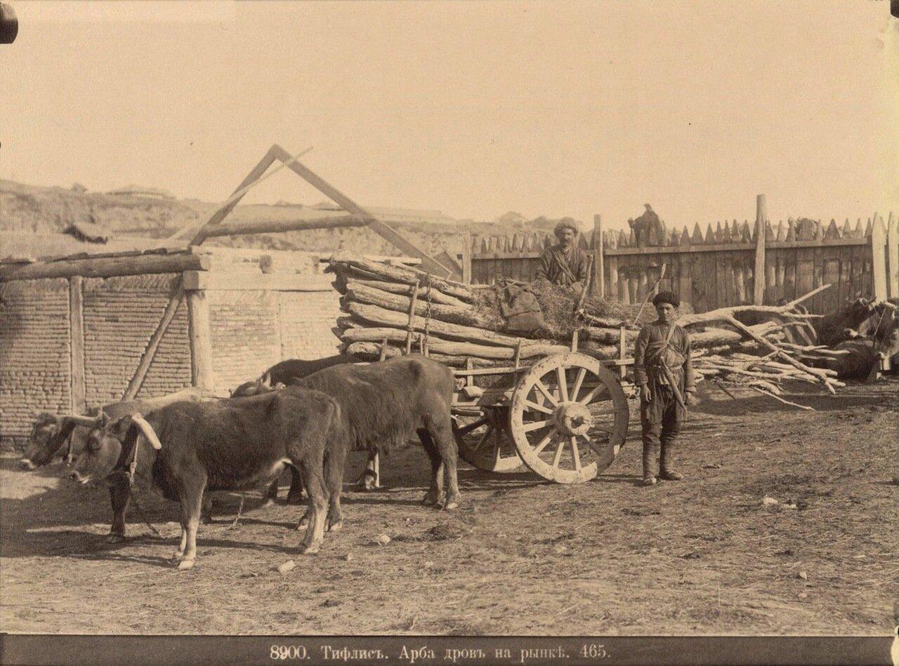 Арба дров на рынке. 1890