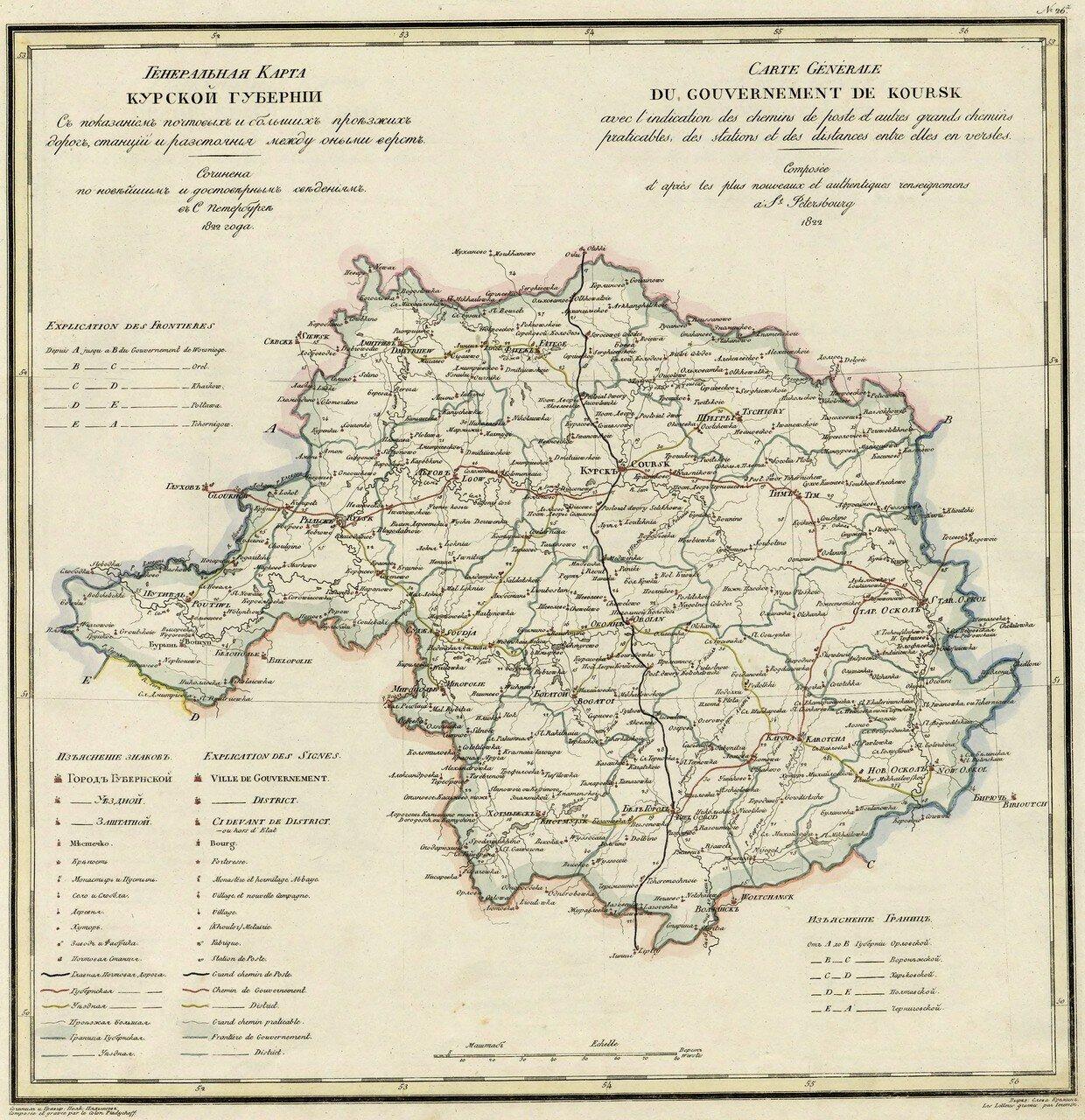 26. Курская губерния. 1822
