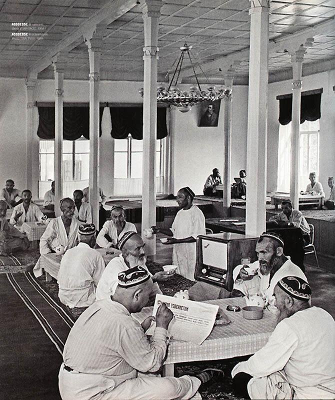 In the teahouse  photos ITAR-TASS, 1958
