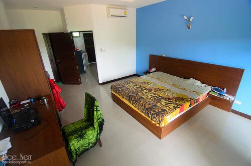 Моя квартирка-студия в Хуа Хине. Спальня-гостиная. Второй этаж в здании на тихой улочке.