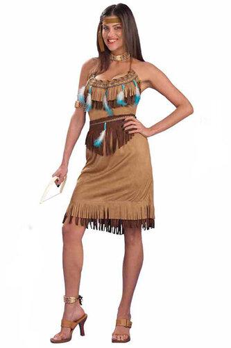 Женский карнавальный костюм Подруга вождя индейцев