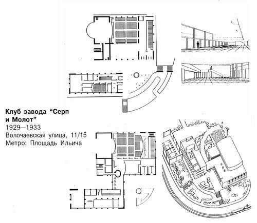 Клуб завода Серп и Молот, чертежи