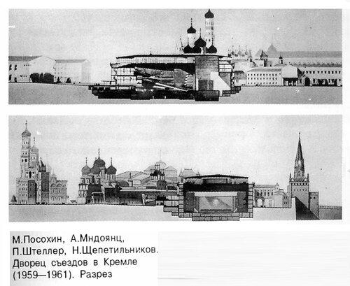 Кремлевский дворец съездов , разрезы