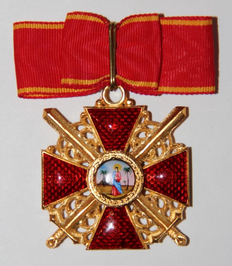Крест орд.Св.Анны 1 ст.(с мечами)