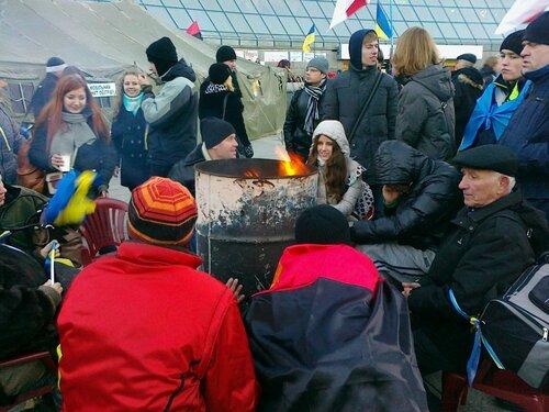 Коллективный обогрев на Евромайдане