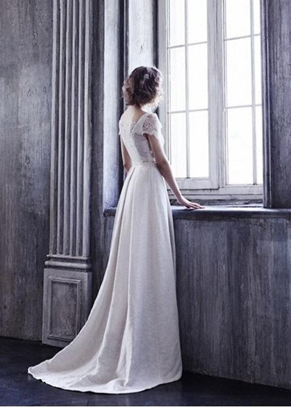 свадебное платье со шлефом