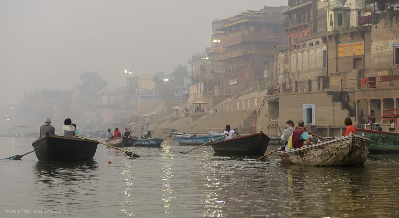 Фотография 13. На реке. Отзывы туристов об экскурсии в Варанаси самостоятельно. 1/800, 3.2, 2500, 62.