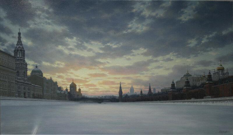 Батов Александр Сергеевич (1951 г.р.). «Зима в Москве». 2013 год