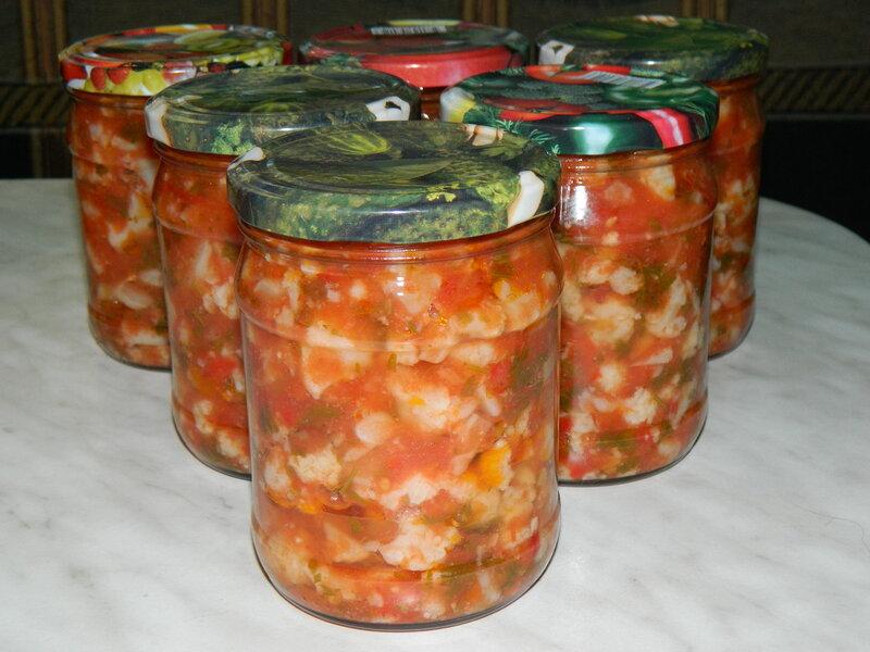 """Салат """"Деликатес"""" из цветной капусты"""