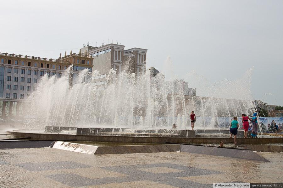 Саранск, площадь Тысячелетия, фонтан