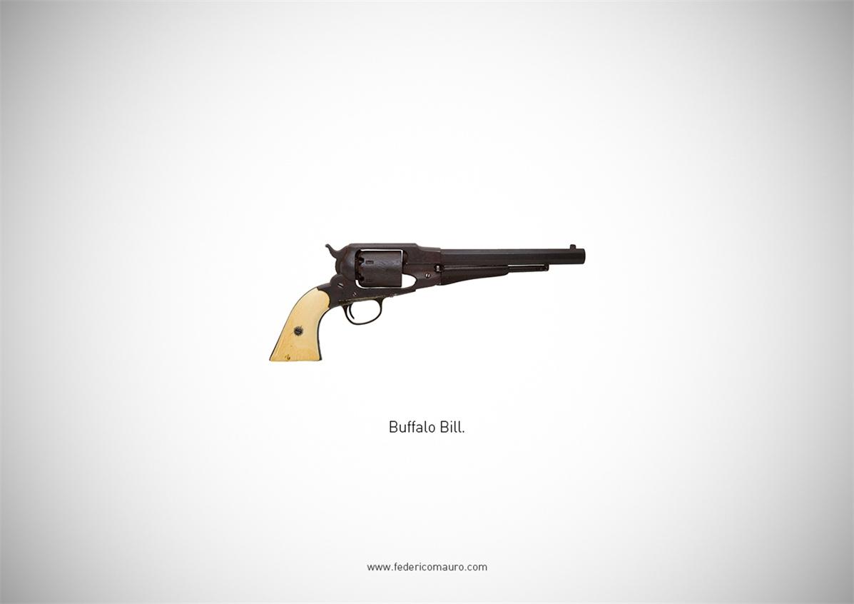 Знаменитые пушки - оружие культовых персонажей / Famous Guns by Federico Mauro - Buffalo Bill