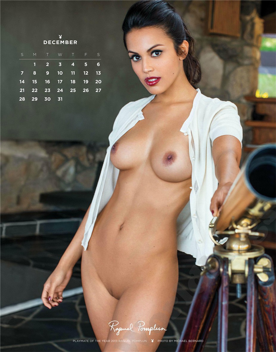 december - Playboy USA playmate calendar 2014 / Raquel Pomplun - Playmate of the Year 2013