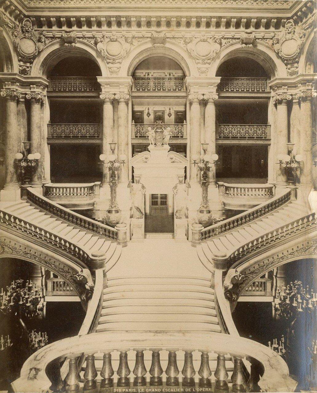 1880-е. Опера Гарнье. Парадная лестница