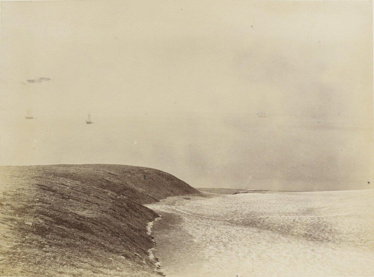 Место высадки экипажей русских шхун «Марта» и «Надежда», а так же голландской шхуны «Виллем Баренц»