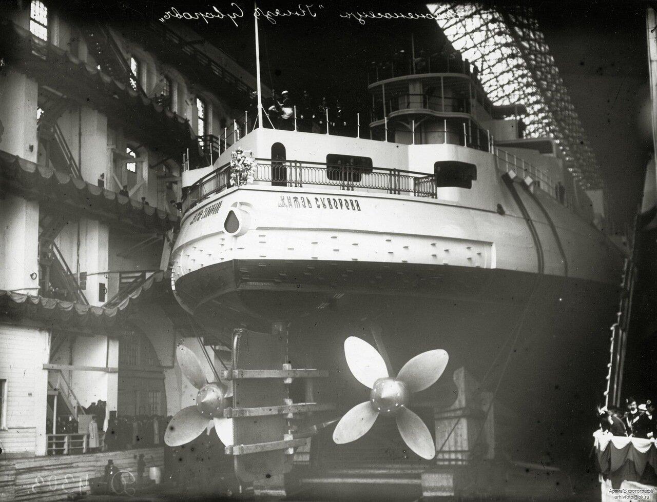 04. Эскадренный броненосец «Князь Суворов» перед спуском на воду. 12 сентября 1902 г.