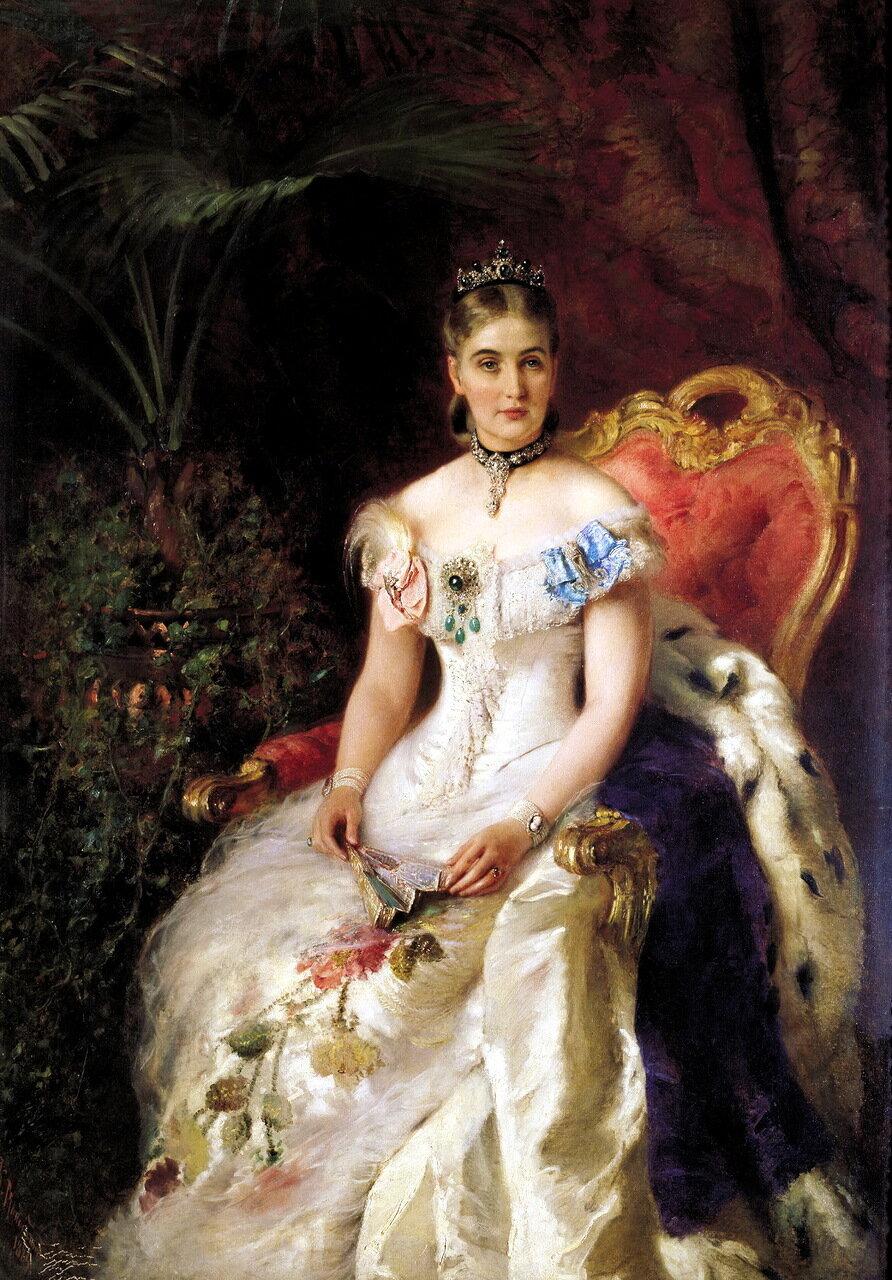 Константин Маковский (1839-1915). Портрет графини Марии Михайловны Волконской (1863-1943)