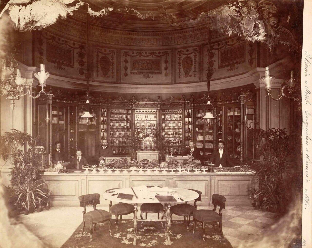 Кондитерская в гостинице Европейская. 1875